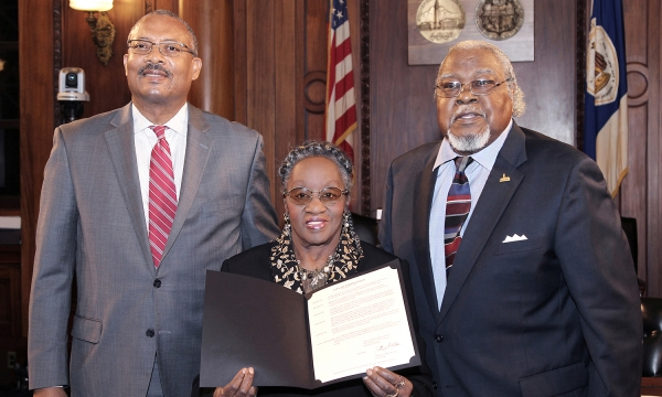 Proclamation issued to Katherine Thomas