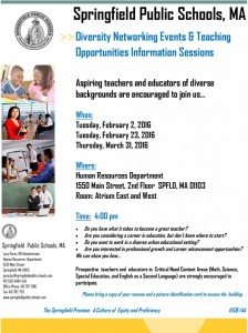 Networking Events and Teaching Opportunities Information Session @ Human Resources Department | Springfield | Massachusetts | United States