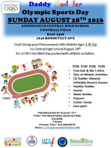 Daddy/Toddler Olympics Day @ Springfield Central High School | Springfield | Massachusetts | United States