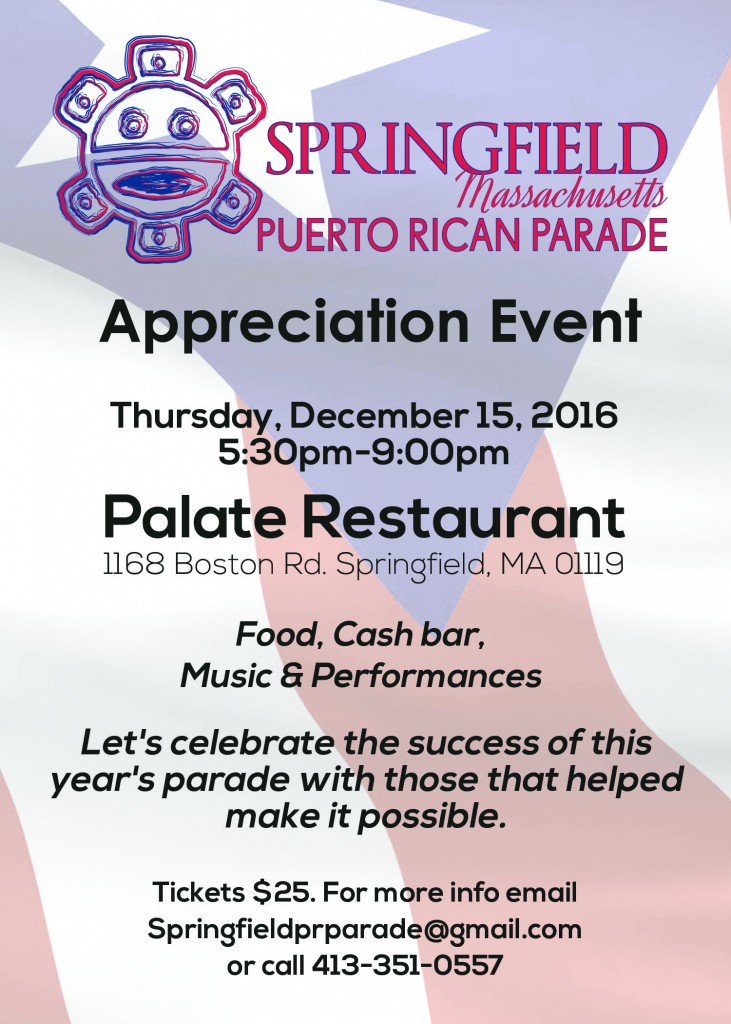 Appreciation Event @ Palate Restaurant | Springfield | Massachusetts | United States