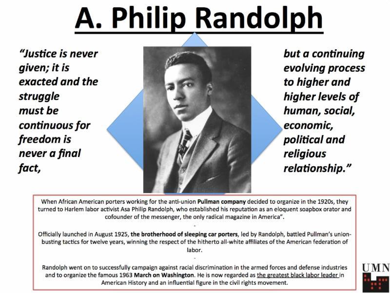 philip randolph in civil right movement essay